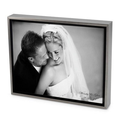 24x36 Black & White Photo to Canvas Art with Float Frame - Wedding Frames & Albums
