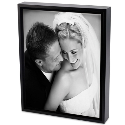 30x40 Black & White Photo to Canvas Art with Float Frame - Wedding Frames & Albums