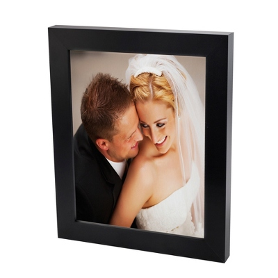 16x20 Color Photo to Canvas with Classic Black Frame