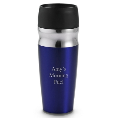 Personalized Blue Travel Mug - $20.00