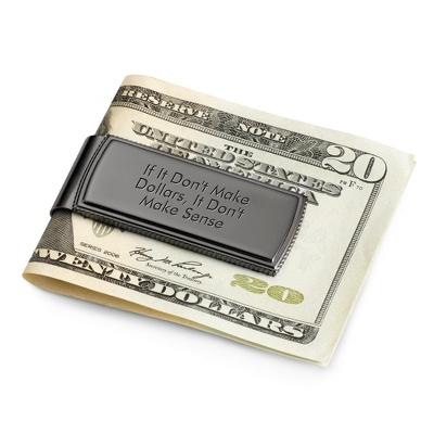 Gunmetal Coin Edge Money Clip