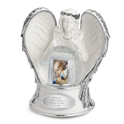 Musical Snow Globes Personalized Guardian Angel Musical Water Globe by Things Remembered