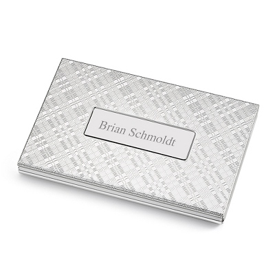 Personalized Plaid Card Case by Things Remembered