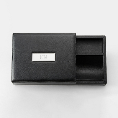 Mens Engravable Valet Boxes