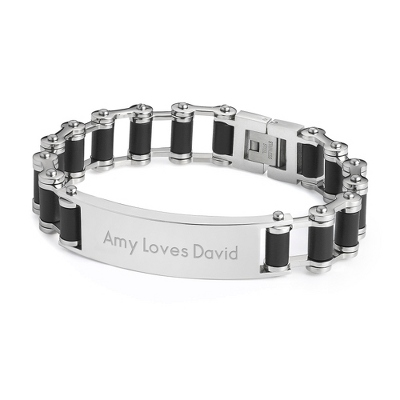 Bicycle Chain ID Bracelet with complimentary Tri Tone Valet Box - Men's Jewelry