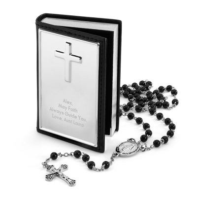 Boy's Rosary Set with complimentary Tri Tone Valet Box