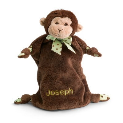 Personalized Monkey Mini Blankie
