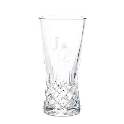 European Pineapple Cut Crystal Vase