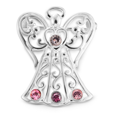 4 Birthstone Angel Pin with complimentary Filigree Keepsake Box - Religious & Inspirational Gifts