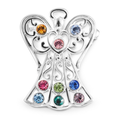 9 Birthstone Angel Pin with complimentary Filigree Keepsake Box - $45.00