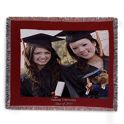 Landscape Red Border Photo Throw