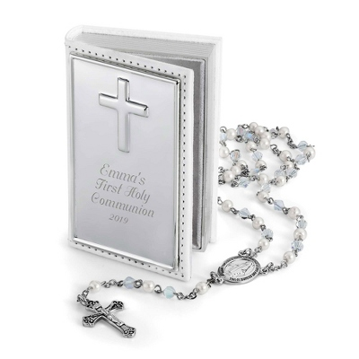 Girl's Rosary Set with complimentary Filigree Heart Box