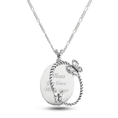 Expressions Butterfly Necklace with complimentary Filigree Oval Box