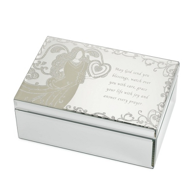 Engraved Mirrored Jewelry Box