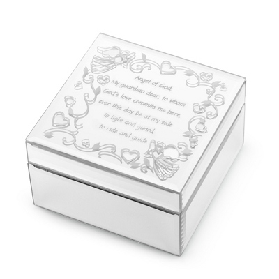 Girl's Angel Mirrored Keepsake Box - Jewelry Boxes & Keepsake Boxes