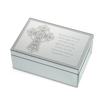 Celtic Cross Mirrored Jewelry Box