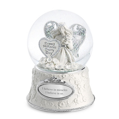 Engraved Musical Snow Globes