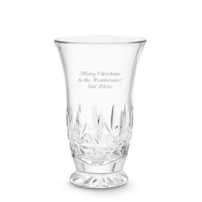 Footed Kaitlyn Vase - Cut Crystal Gifts