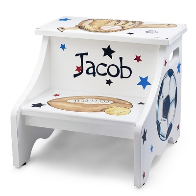 Sports Hand-painted Stool