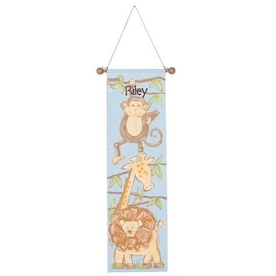 Safari Hand-painted Growth Chart