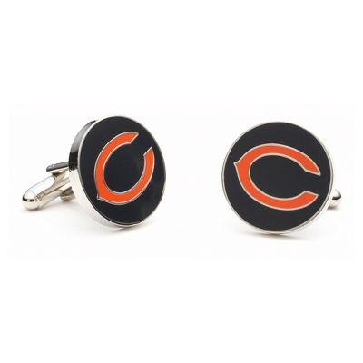 Chicago Bears Cuff Links with complimentary Weave Texture Valet Box