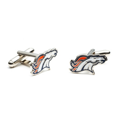 Denver Broncos Cuff Links with complimentary Weave Texture Valet Box