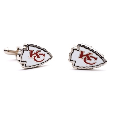 Kansas City Chiefs Cuff Links with complimentary Weave Texture Valet Box - Tie Bars & Cuff Links
