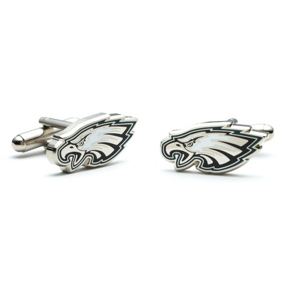 Philadelphia Eagles Cuff Links with complimentary Weave Texture Valet Box