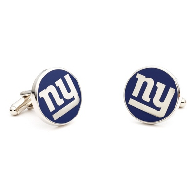 New York Giants Cuff Links with complimentary Weave Texture Valet Box