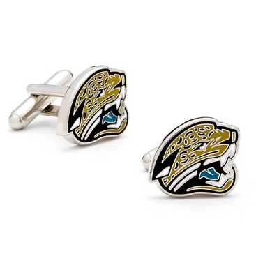 Jacksonville Jaguars Cuff Links with complimentary Weave Texture Valet Box - Tie Bars & Cuff Links