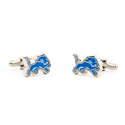 Detroit Lions Cuff Links with complimentary Weave Texture Valet Box