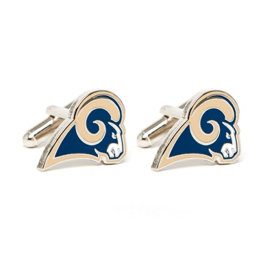 St. Louis Rams Cuff Links with complimentary Weave Texture Valet Box - $60.00