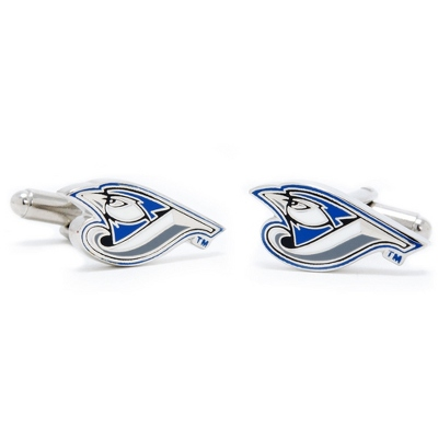 Toronto Blue Jays Cuff Links with complimentary Weave Texture Valet Box