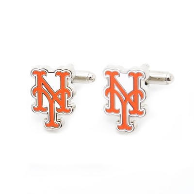 New York Mets Cuff Links with complimentary Weave Texture Valet Box