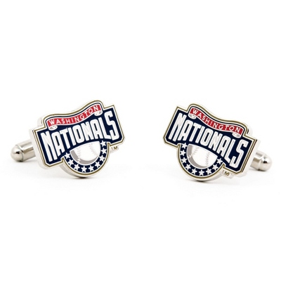 Washington Nationals Cuff Links with complimentary Weave Texture Valet Box - $60.00