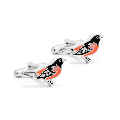 Baltimore Orioles Cuff Links with complimentary Weave Texture Valet Box