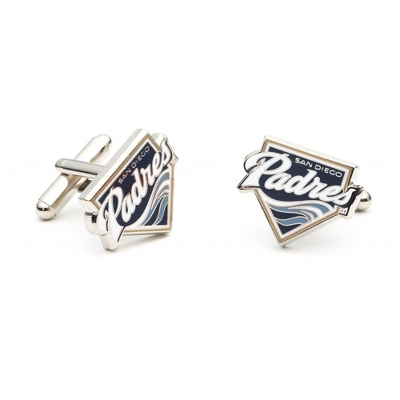 San Diego Padres Cuff Links with complimentary Weave Texture Valet Box