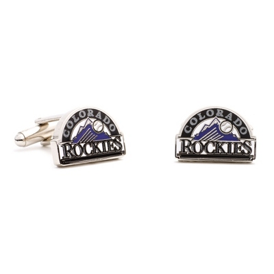 Colorado Rockies Cuff Links with complimentary Weave Texture Valet Box
