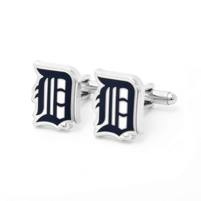 Detroit Tigers Cuff Links with complimentary Weave Texture Valet Box