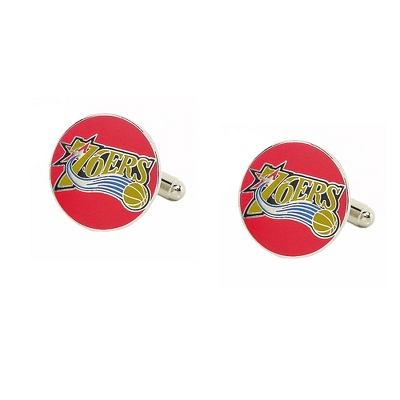 Philadelphia 76ers Cuff Links with complimentary Weave Texture Valet Box - UPC 825008264700