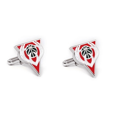 Milwaukee Bucks Cuff Links with complimentary Weave Texture Valet Box