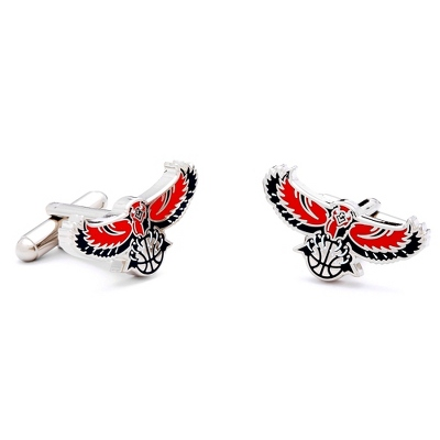 Atlanta Hawks Cuff Links with complimentary Weave Texture Valet Box - $55.00