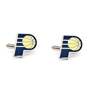 Indiana Pacers Cuff Links with complimentary Weave Texture Valet Box - Men's Jewelry