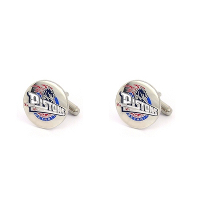 Detroit Pistons Cuff Links with complimentary Weave Texture Valet Box - $60.00