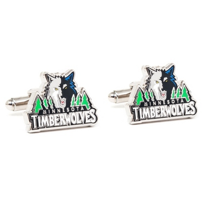 Minnesota Timberwolves Cuff Links with complimentary Weave Texture Valet Box