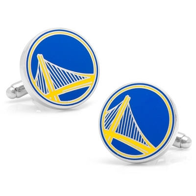 Golden State Warriors Cuff Links with complimentary Weave Texture Valet Box