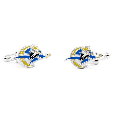 Washington Wizards Cuff Links with complimentary Weave Texture Valet Box - Men's Jewelry