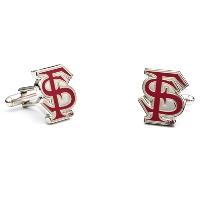 Florida State University Cuff Links with complimentary Weave Texture Valet Box