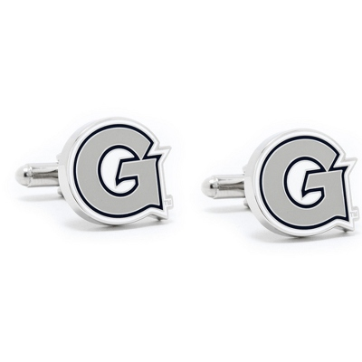 Georgetown University Cuff Links with complimentary Weave Texture Valet Box
