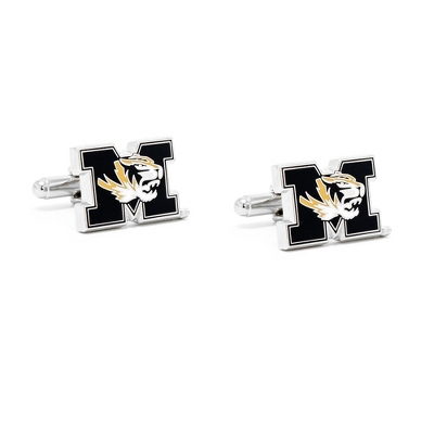 University of Missouri Cuff Links with complimentary Weave Texture Valet Box
